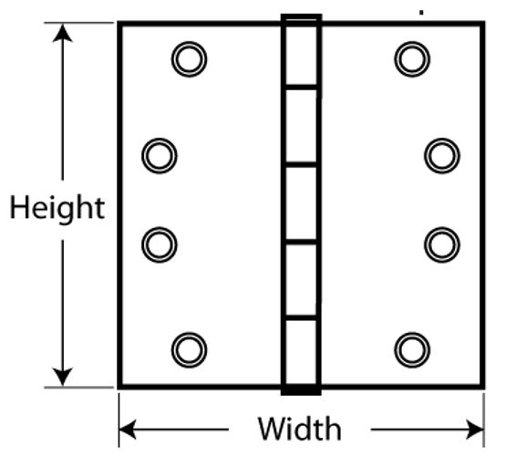 Hinge Sizing Template