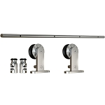 Sliding Door Set - Top Mount With SOFT STOP - Single wheal 8'2