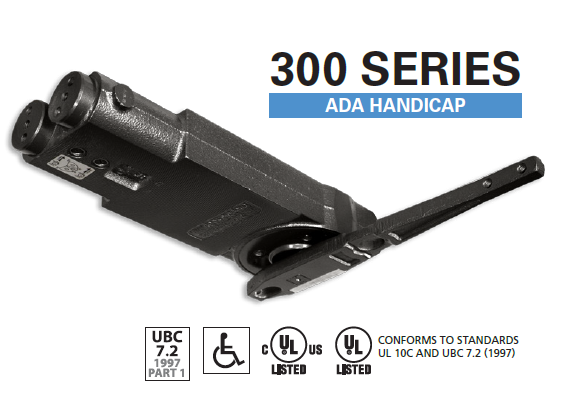 IDC - 313 Overhead Concealed Door Closer - Adjustable ADA 5lb through Medium Spring - 90 Degree Back Stop with NO Hold-Open