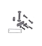 CA3010-S-SC Overhead Concealed Closer Side Load Arm Screw Package