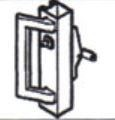 CA7085-4-48 Concealed Vertical Rod Panic Exit Device, - Unit with Cylinder, - Cylinder Mounting Pad and PH-1000E Outside Pull Handle