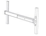9300 Series - Narrow Stile Flat Bar - Rim Latching - Exit Device