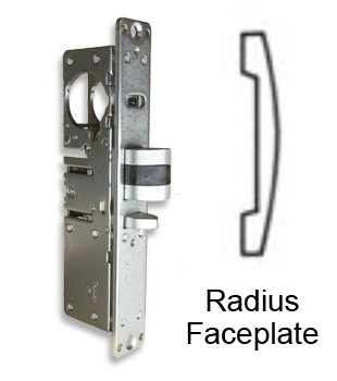 DL-4512 Deadlatch Lock with Radius Faceplate