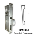 "DH-1825-S ""Short Throw"" Deadlock with Right-Hand Beveled Faceplate"