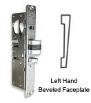 DL-4514 Deadlatch Lock with Left-Hand Beveled Faceplate