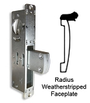"DT-1853 – ""Long Throw"" Deadlock with Radius Weatherstripped Faceplate"