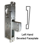 "DT-1854 – ""Long Throw"" Deadlock with Left Hand Beveled Faceplate"