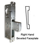 "DT-1855 – ""Long Throw"" Deadlock with Right Hand Beveled Faceplate"