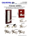 ITALIA SERIES Leverset, Knobset, Eschutcheon, Deadbolt