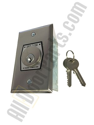 NEMA 1 Interior OPEN-CLOSE Key Switch in Single Gang Back Box Flush Mount
