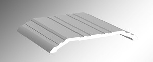 CR2704 1/2' High x 4' Wide Aluminum Saddle Threshold