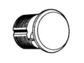DM-1000 Dummy Mortise Cylinder (No Keyway)