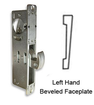 DH-1824-H 'Hook Bolt' Deadlock with Left-Hand Beveled  Faceplate